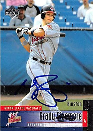 Grady Sizemore autographed baseball card (Cleveland Indians, FT) 2002 Upper Deck #92 Rookie - MLB Autographed Baseball Cards