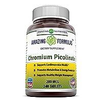 Amazing Nutrition Chromium Picolinate 200 Mcg 240 tabletas