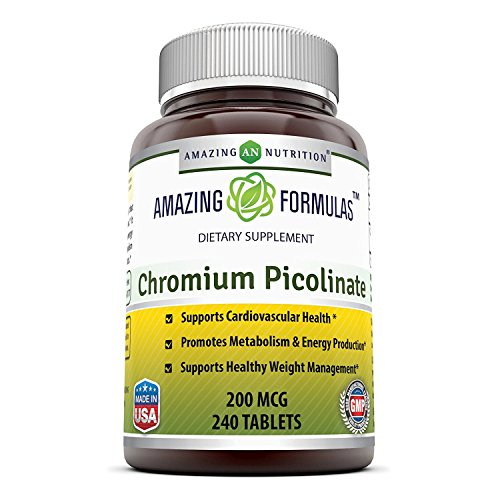 Amazing Nutrition Chromium Picolinate 200 Mcg 240 Tablets Review