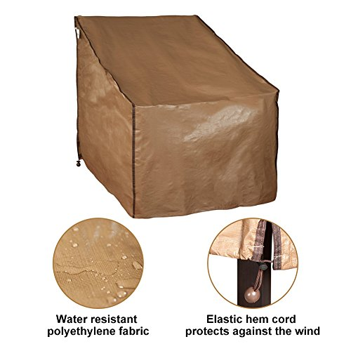Abba Patio Outdoor Single Seat Sofa Cover Waterproof Wicker/Rattan Lounge  Porch Sofa Cover, 34 Inch