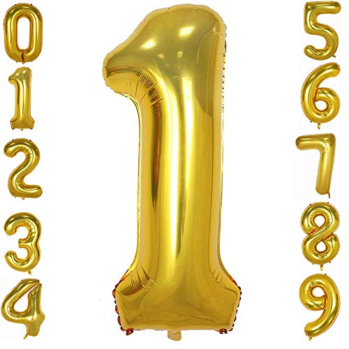 (Tellpet Gold Number 1 Balloon, 40)