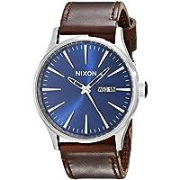 Nixon Men's A1051524 Sentry Leather Watch