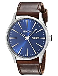 Nixon Men's A1051524 Sentry Leather Watch