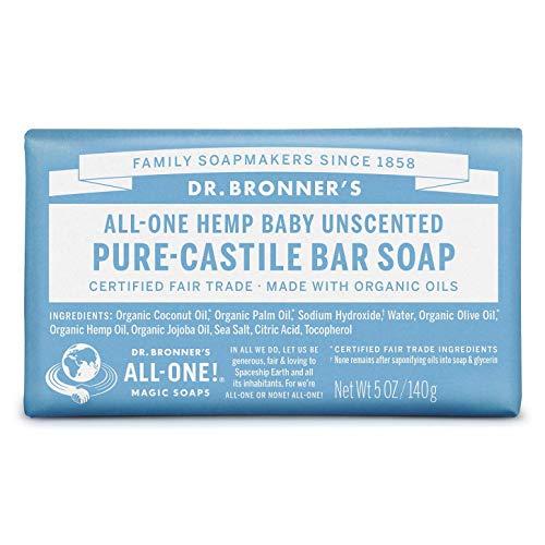 Dr. Bronner's Pure-Castile Bar Soap - Baby Unscented (5 oz)