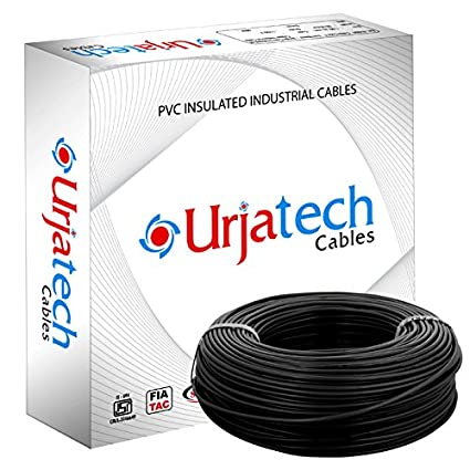 Capital Urjatech Cable 6 sq mm Wire (Black) - Box of 90 Mtr