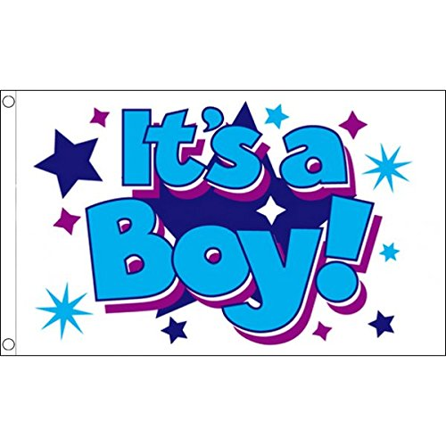 ITS A BOY WITH STARS FLAG 3' x 5' - IT'S A BOY FLAGS 90 x 15