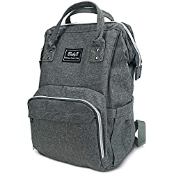 BabyX Diaper Bag Backpack - Multi-Function Waterproof Maternity Nappy Bags for Travel with Baby - Large Capacity Care Changing Bag, Durable and Stylish, Darkgray Bag