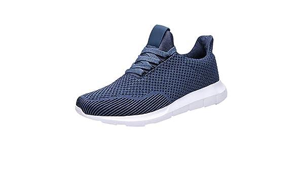 ZODOF zapatillas deportivas hombre Talla grande Volar Tejer Respirable Ultraligero Zapatos para correr Otoño Zapatillas Moda running shoes Sneakers(44 EU,Azul): Amazon.es: Bricolaje y herramientas