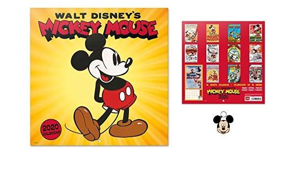 1art1 Mickey Mouse, Walt Disney, Calendario Oficial 2020 ...