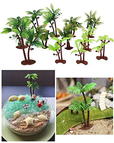 Wolpark 12 PCS Cocoa Tree Cupcake Topper Cake Picks Decoration for Baby Shower Birthday Party Favors