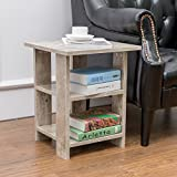 Alva House Grey Finish Chair Side Table End Table Coffee Table with 3-tier Shelf