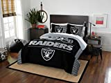 Northwest Enterprises Oakland Raiders COMBO 5 Pc FULL/QUEEN Size Comforter Set Includes: Comforter, 2 Pillow Shams & 2 Pillowcases -NFL Football Bedding Accessories