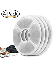MOSPRO Carbon Replacement Filters for Pet Fountain - 4 Packs for Automatic Flower Water Dispenser Compatible for Cats and Dogs