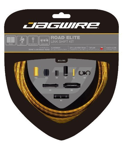 - Jagwire Road Elite Link Shift Cable Kit Gold, One Size