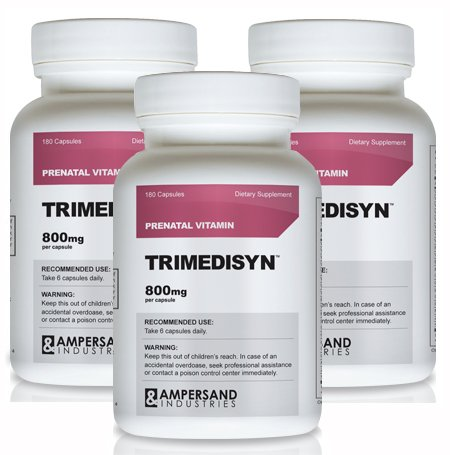 Trimedisyn 3 Bottles - Prenatal Vitamin Mother to Be Nutrition
