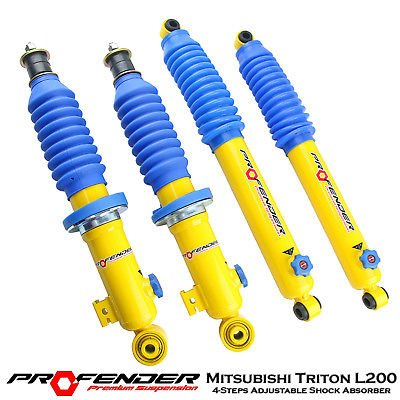 4 Steps Adjustable Gas Shock Absorber Fits For Mitsubishi Triton ML MN L200 05-15 4WD