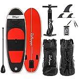 Retrospec Weekender-Nano 8' Inflatable Stand Up Paddleboard Bundle