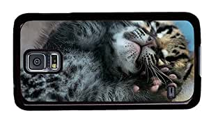 Hipster Samsung Galaxy S5 Case underwater cover ocelot cub PC Black for Samsung S5 by runtopwell