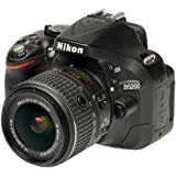 Nikon D5200 AF-S DX 18-55mm f/3.5-5.6 VR II Kit, Black