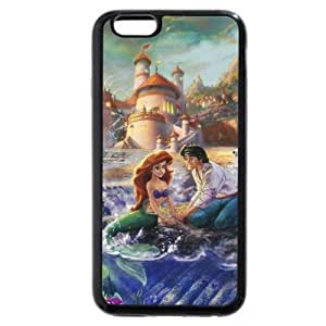 DiyPhoneDiy Disney Series Case For Iphone 5/5s Cover , The Little Mermaid For Iphone 5/5s Cover Case, Only Fit For Iphone 5/5s Cover (Black Frosted Shell)