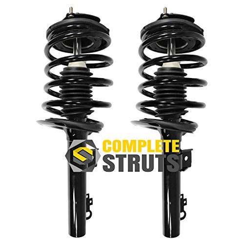 Front Quick Complete Struts & Coil Spring Assemblies Compatible with 1996-2007 Ford Taurus (Pair) (Ford Taurus Strut Assembly)