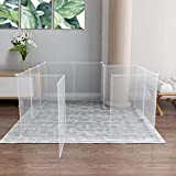 Allisandro Small Pet Playpen, Small Animal Cage for Indoor Outdoor Use, Foldable Yard Fence for Small Animal, Puppy, Kitten, Guinea Pigs, Bunny, Turtle, Hamster