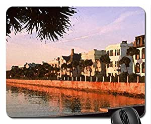 Golden Harbor South Carolina Mouse Pad, Mousepad (Watercolor style) by mcsharks
