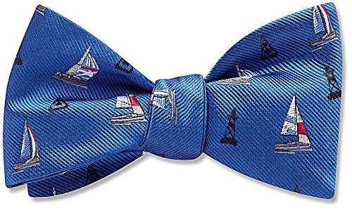 Skipper Blue Pictorial, Men's Bow Tie, by Beau Ties Ltd of Vermont