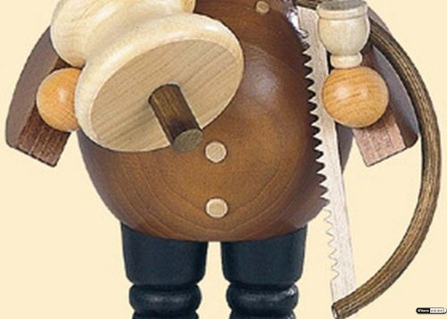 German Incense Smoker Woodchopper - 18 cm / 7 inch - Müller Kleinkunst