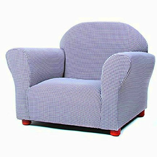 Children's Upholstered Armchair with Wooden Frame and Foam Comfy Soft Toddlers Nursery Chair Blue Round Heavy Duty Reading Play Area Handmade Armchair eBook by Easy&FunDeals by EFD