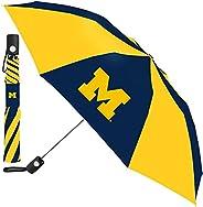 Wincraft NCAA Michigan University of Auto Folding Umbrella, Black