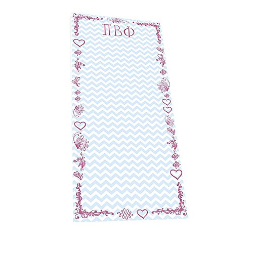 PI BETA PHI CHEVRON LONG NOTEPAD (Phch)