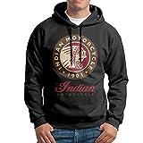 Indian Motorcycle Men Fleece Pullover Hoodie Black