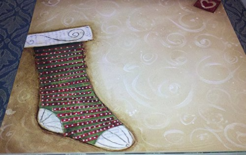 Country Snowman Stocking (12x12 2 Embossed Christmas Stocking - Snowman Winter Cardstock Papers - 2Pc)