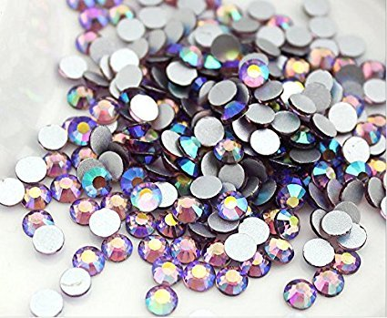 20ss Hot Fix (Jollin Hot Fix Flatback Rhinestones Glass Diamantes Gems(20ss 576pcs,Light purple AB))