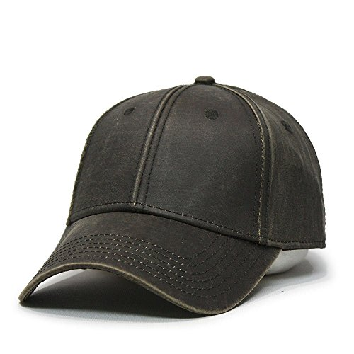 Vintage Year Heavy Washed Wax Coated Adjustable Low Profile Baseball Cap (Brown/Full Buchram)