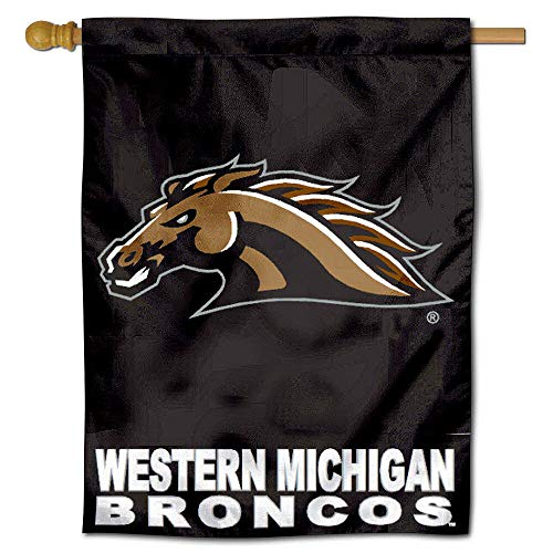 (College Flags and Banners Co. Western Michigan University Broncos House Flag)