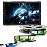 16:9 200 Inch Portable Projector Screen,Rear Projection Screen with Hanging Holes for School and Outdoor Projecting