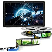 Fosa 16:9 Indoor Outdoor Film Theater Movie Projection Screen Curtain Projector Matte White(150 Inch)