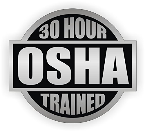 30 Hour OSHA Trained Hard Hat Sticker / Helmet Decal Label Lunch Tool Box Safety Stickers ...