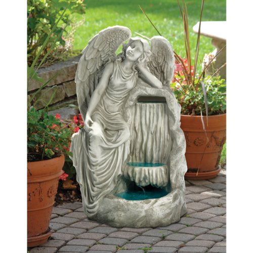 Water Fountain - Resting Grace Angel Garden Decor Fountain - Outdoor Water Feature