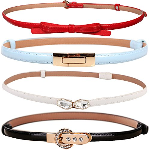 kilofly Womens Leather Adjustable Waistband