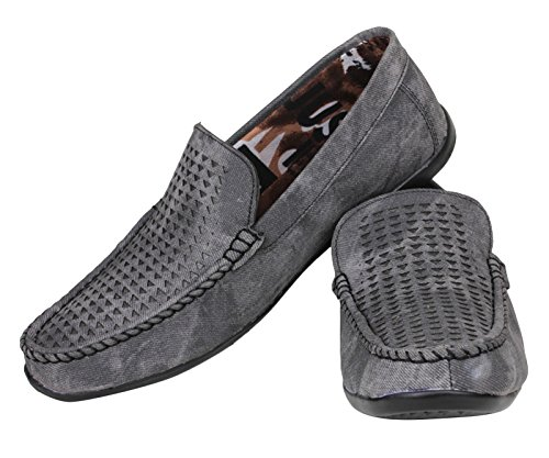 Digni Chaussures Noir Mocassins Hommes Casual Party Tenue de soirée Slip On Driving Slipper