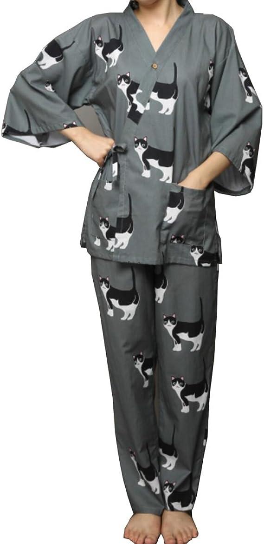 Traje de Pijama de Kimono Yukata de Estilo japonés para Mujer ...