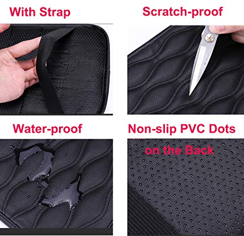 Forala Auto Center Console Pad,PU Leather Car Armrest Seat Box Cover Protector Protects from Dirt,Damage,Pet Scratches,Old Damaged Consoles (Black)