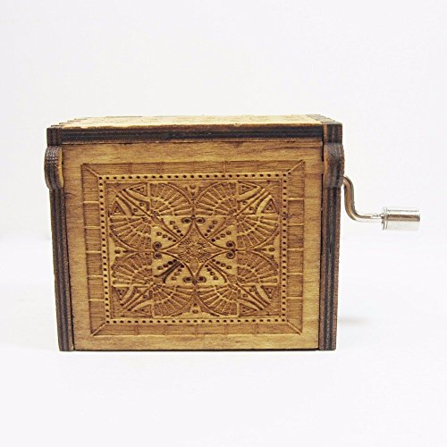Phoenix Appeal Antique Carved Wooden Music box Hand cranked Music: Game of thrones, Harry Potter, Merry Christmas Theme Gift (Game of Thrones, Wood) by Phoenix Appeal (Image #2)