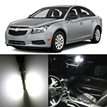"Alla Lighting 4pcs T10 Wedge 194 168 2825 W5W CANBU Error Free Super Bright White High Power 3014 18-SMD LED Bulb for Replacing 2011~17"" Chevrolet Cruze Interior Map Dome License Plate Lights"