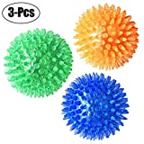 Cheap 3 Pcs Pet Squeaky Chewing Balls Puppy Chew Toys Soft Stab Balls Cleaning Teeth Toys Play Balls with High Bounce for Large Medium Small Pet Dog Cat