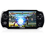 "Handheld Game Console, Loyalfire Game Player with 5"" 64-bit LED Lights 8GB System Portable Video Games, Supports Multiple File Formats, for Birthday Gifts Boys Kids Children Toys (Black II)"