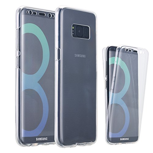 Galaxy S8 Plus Case, LONTECT Soft TPU Crystal Clear Slim 360 Degree Full Body Protective Cover Case for Samsung Galaxy S8 Plus - Clear